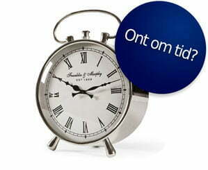 ont om tid!