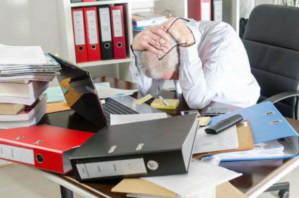 stressad företagare
