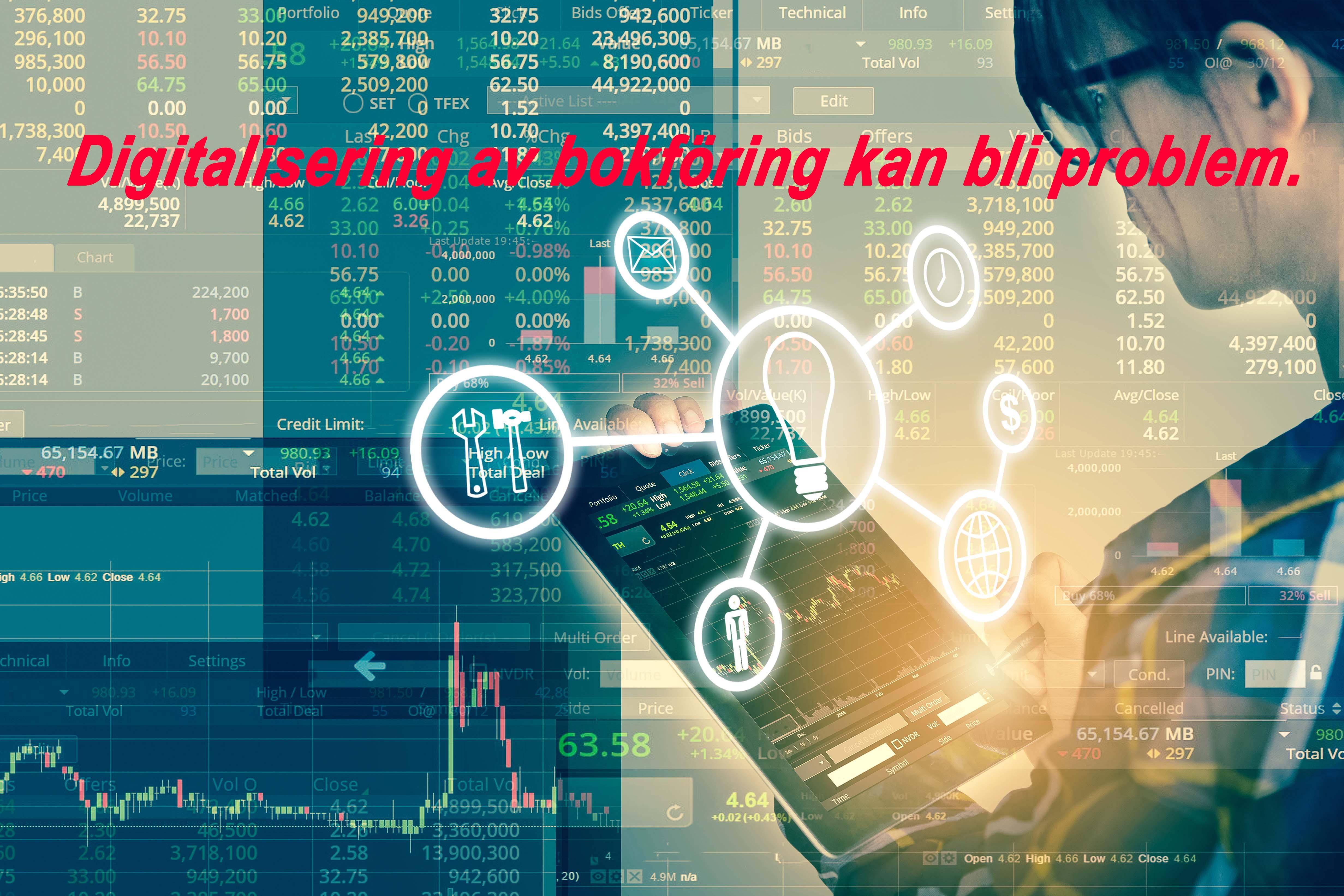 Digitalisering av bokföring kan bli problem, Angamato, Angamato Ekonomikonsult, Tomas Tobiasson