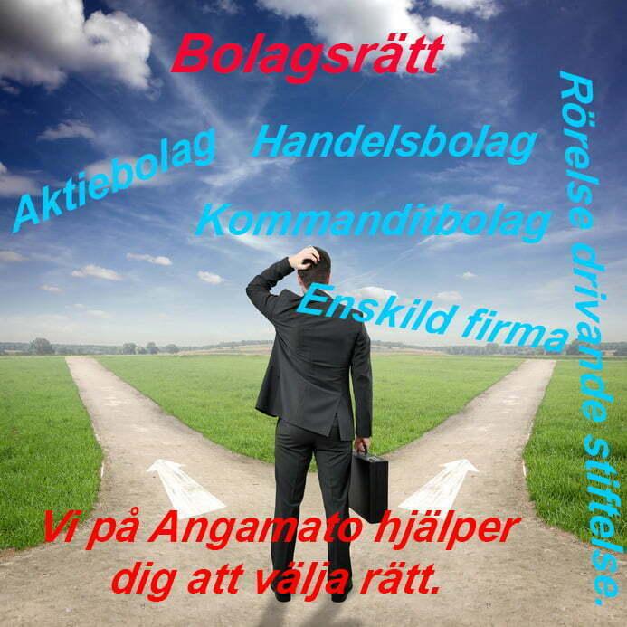 Bolagsrätt, Angamato Ekonomikonsult, Tomas Tobiasson, Bolagsform